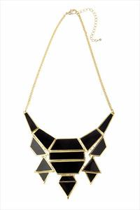 Statement Jet Black Drop Necklace