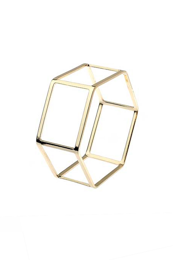 Hexagonal Statement Bracelet