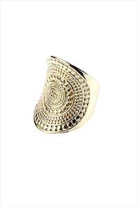 Gold Aztec Cocktail Ring