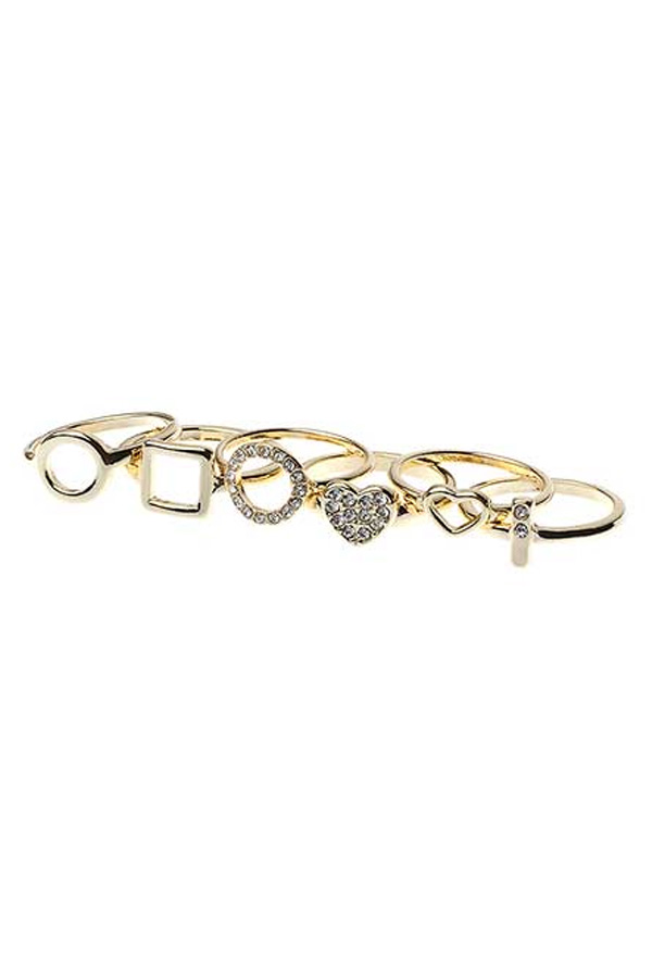 Multi Assorted Rings Set