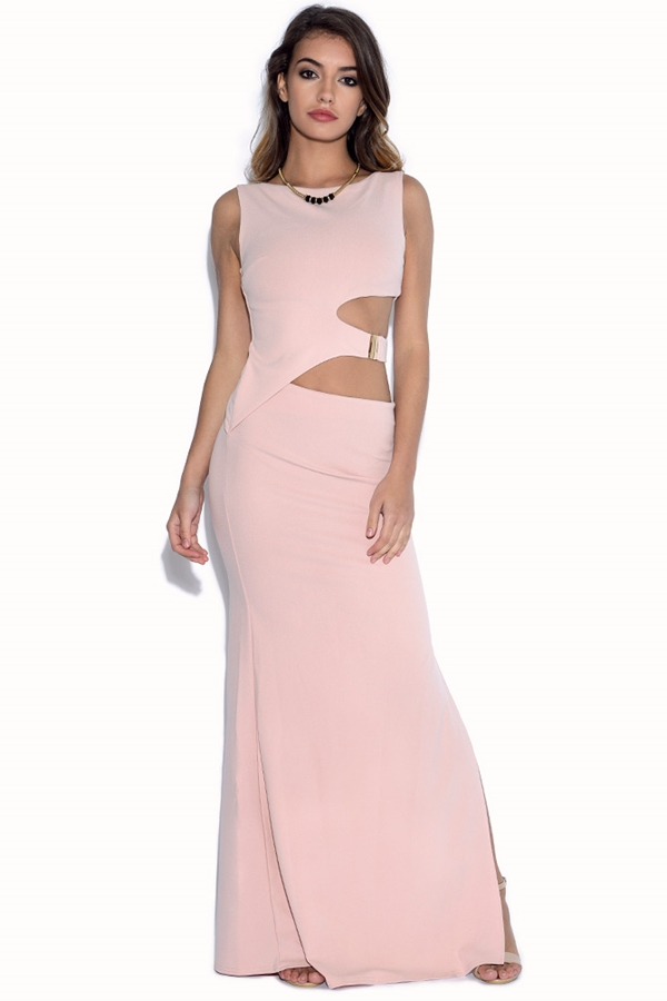 Cut Out Waist Maxi Dress