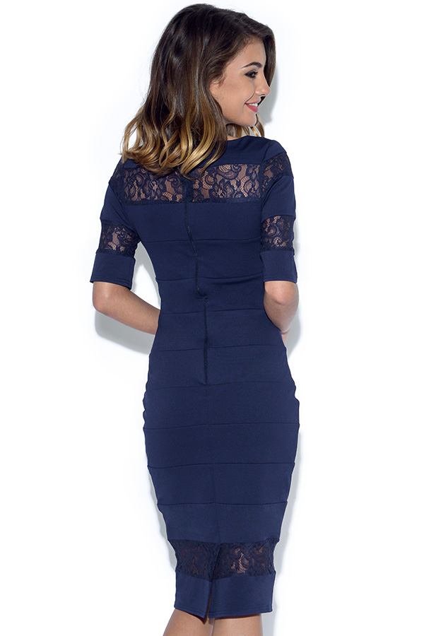 Paper Dolls Navy Lace Insert Dress