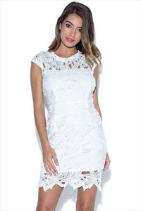 AX Paris Capped Sleeved Crochet Dress