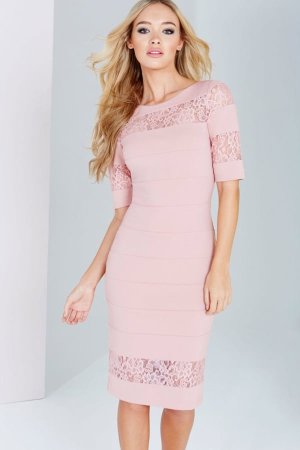 fb1c0a90340 Paper Dolls Blush Lace Insert Dress