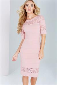 Paper Dolls Blush Lace Insert Dress