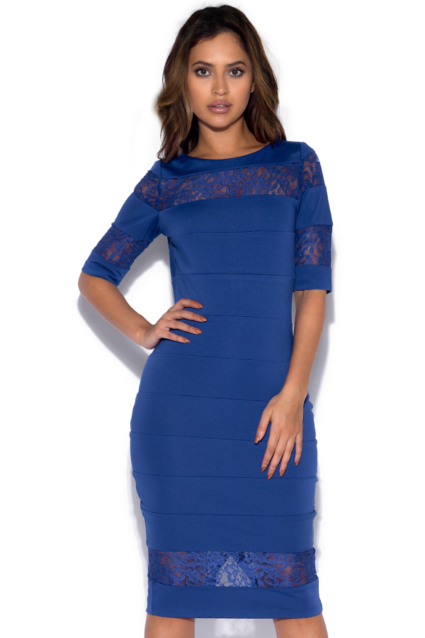 Paper Dolls Blue Lace Insert Dress