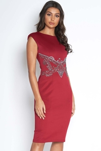 Sparkle Embellished Bodycon Dress