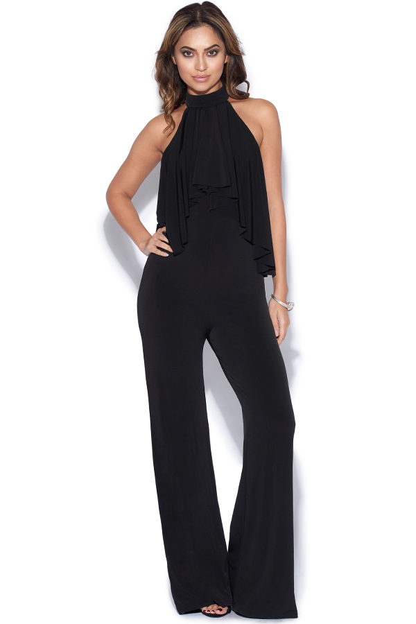 High Neck Black Jumpsuit