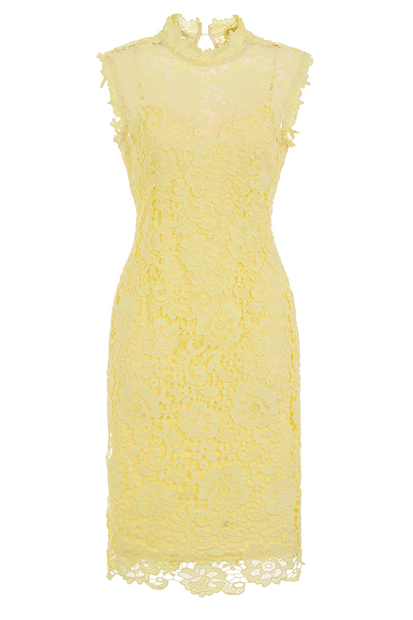 Sleeveless Lemon Crochet Dress