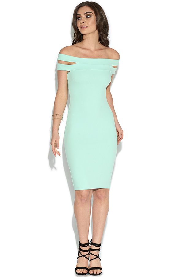 Cut Out Shoulder Bardot Dress
