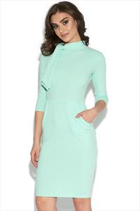 Midi Dress With Statement Collar