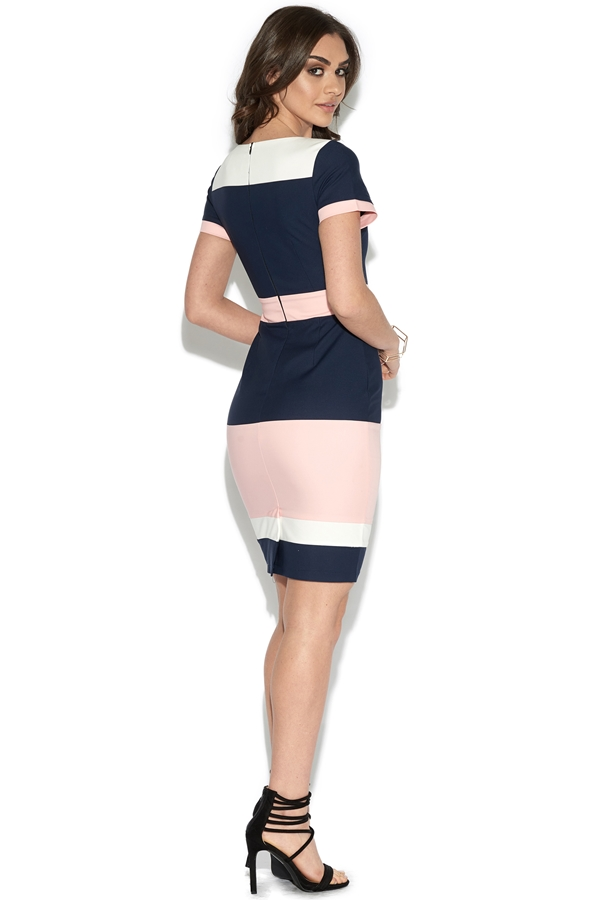 Colour Block Bodycon Dress
