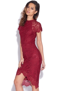 Short Sleeved Lace Dress