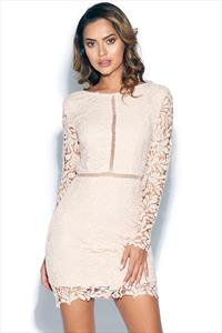 Long Sleeve Crochet Lace Bodycon Dress