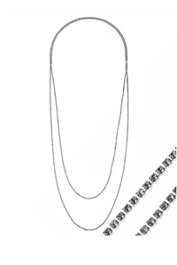 Rhinestone Double Chain Necklace