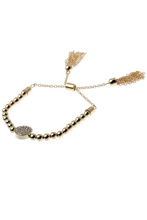 Brass Ball Stretch Bracelet
