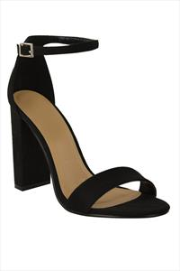 Black Suede Strappy Sandals