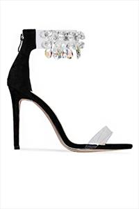 Embellished Perspex Sandals