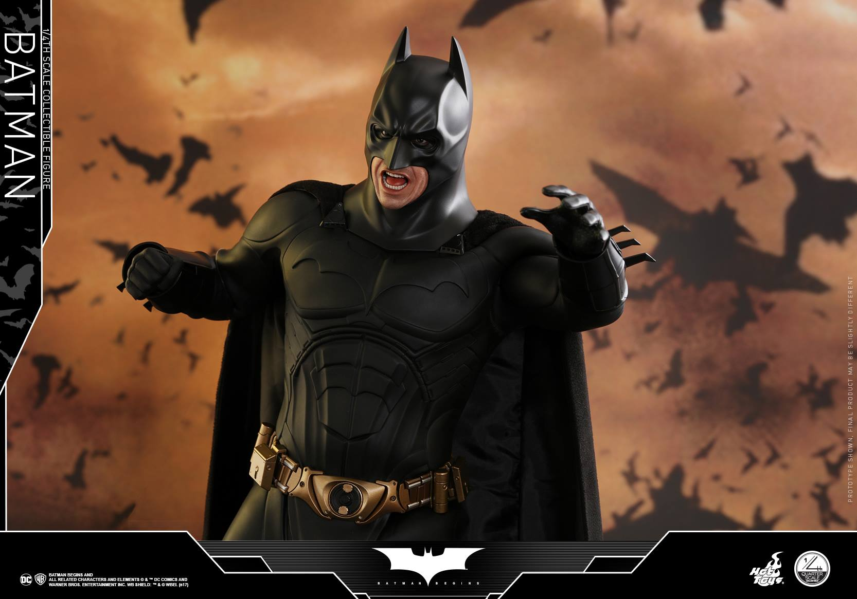 Quarter Scale CHRISTIAN BALE AS BATMAN, THE DARK KNIGHT