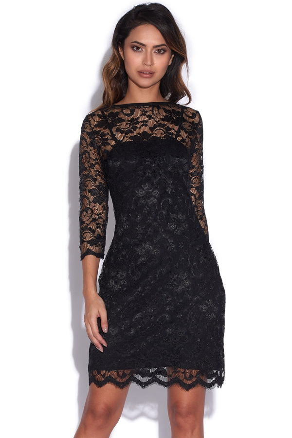 Luxe Lace All Over Dress