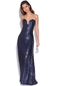 Sweetheart Sequin Maxi Dress