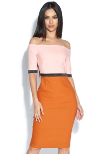Berdine Bardot Midi Dress