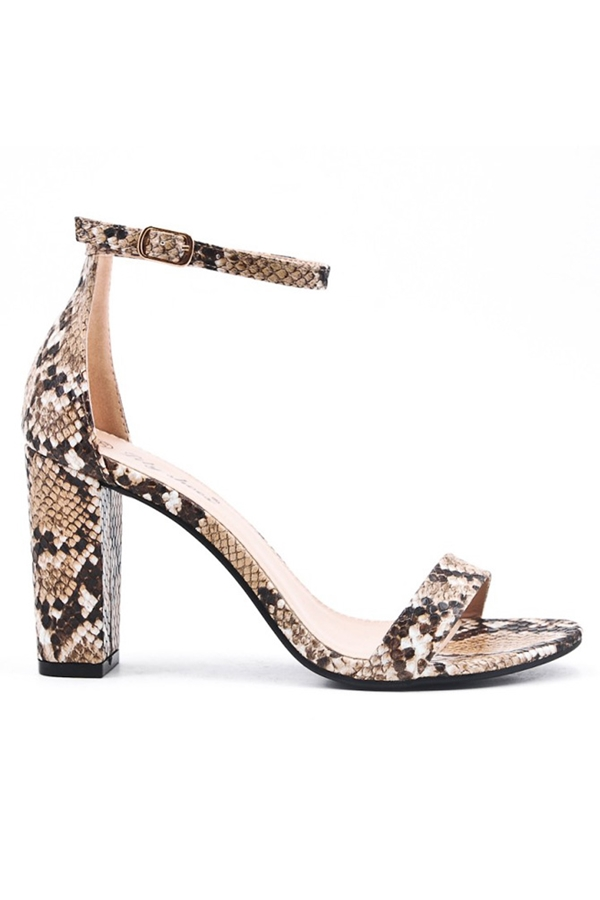 Animal Print Strappy Sandals
