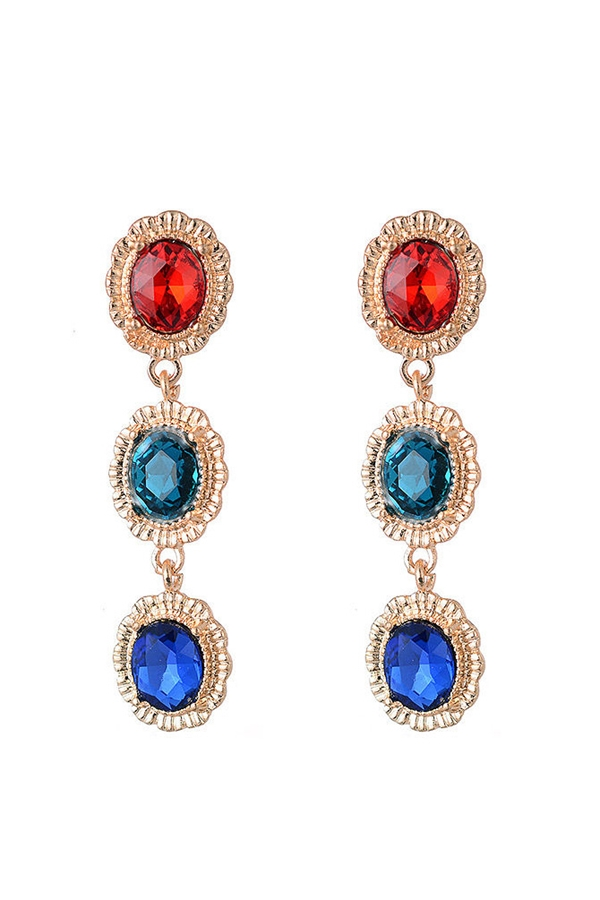 Ombre Rhinestone Drop Earrings