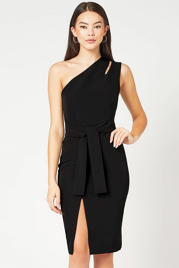 One Shoulder Cut Out Detail Dress